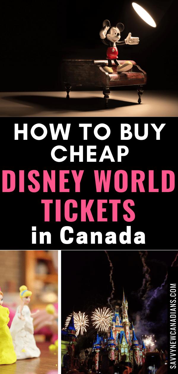 How To Get Wakt Disney World Discounted Tickets in Canada. Taking your kids to Disney World? Learn how to find cheap and discounted Disney tickets so you can save money. #Disney #Disneytickets #discounteddisneytickets #disneyworld #magickingdom #orlandoflorida