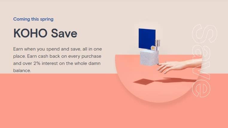 KOHO Save account