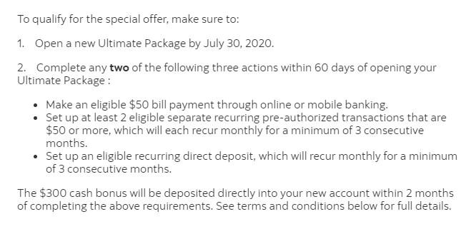 ultimate package welcome bonus
