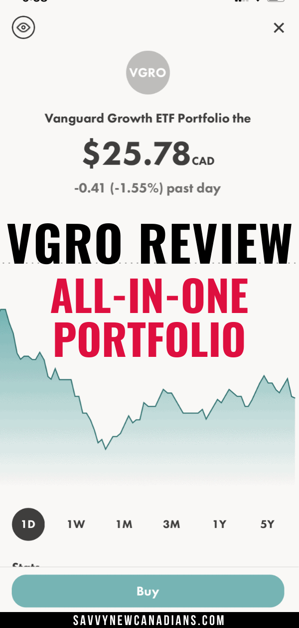 VGRO Review: Vanguard\'s All-in-One Growth ETF Portfolio Explained