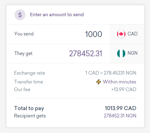 WorldRemit Canada to Nigeria Money Transfer