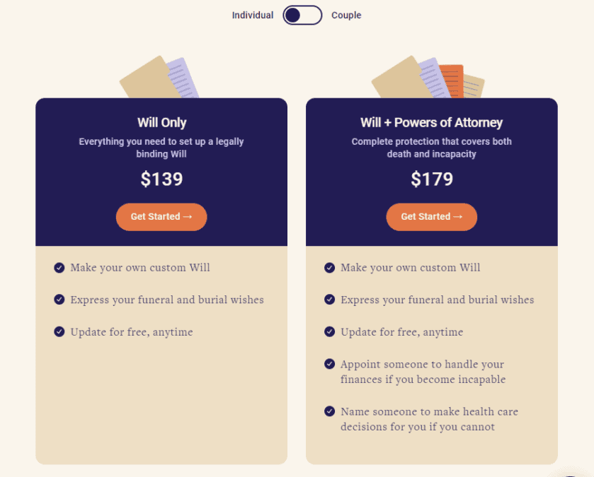 Epilogue Wills Canada Pricing