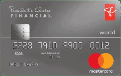 PC Financial World Mastercard.