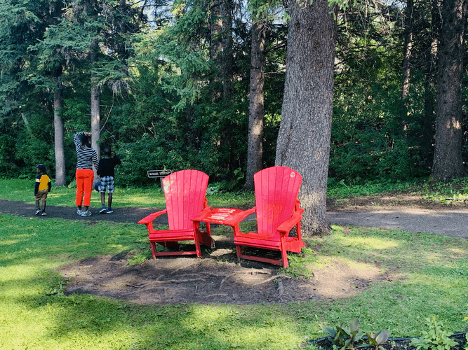 Red Chairs at the Riding Mountain National Park - Wishing Well