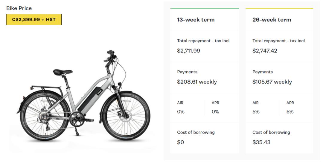 Moves Financial e-bike financing