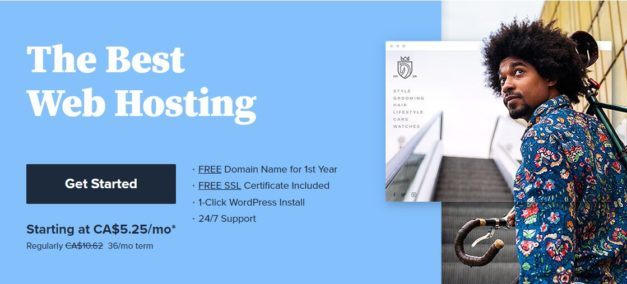 Bluehost webhosting page