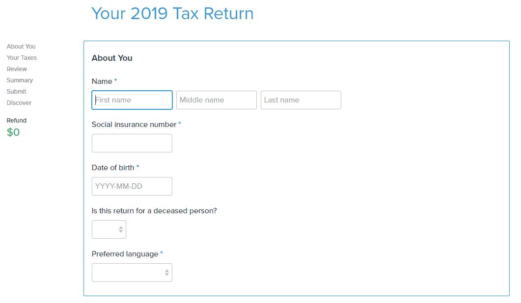 SimpleTax Tax Return Filing