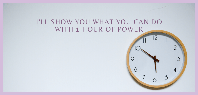 I'll Show You What You Can Do With 1 Hour of Power