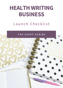 health writing business launch