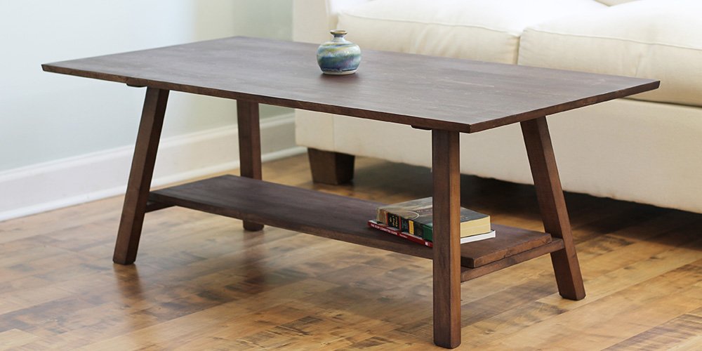 natural wood coffee table solid maple
