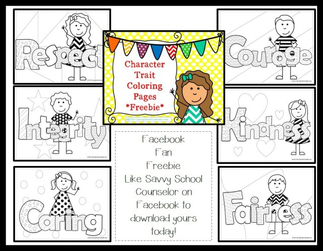 Facebook Fan Freebie- Character Trait Coloring Pages  Savvy
