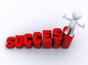Success in business. Success in business.  Business growing concept