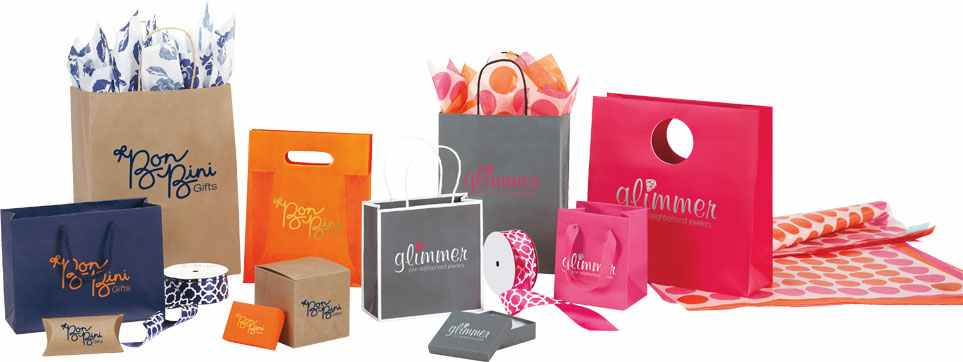 deluxe bags and bows personalized retail packaging