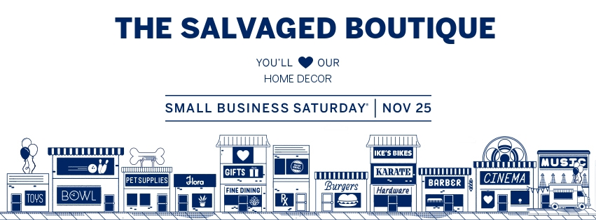 the salvaged boutique small business saturday Facebook cover photo from american express