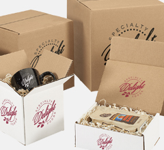 ecommerce printed boxes by Deluxe Bags and Bows