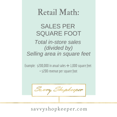 Brick and Mortar Store Owners:  What's your Sales Per Square Foot?