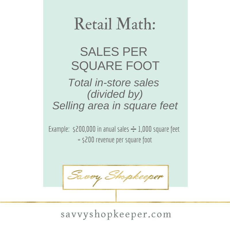 Retail Math - Sales per Square Foot