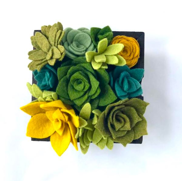 Felt Flower Planter by All Spelled Out
