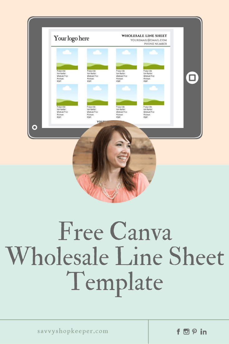 Do I Need A Wholesale Line Sheet Get A Free Canva Wholesale Line