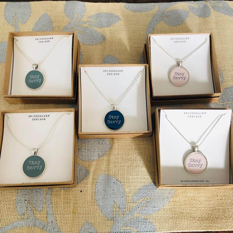 Stay Savvy - Savvy Shopkeeper Pendant Necklace
