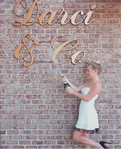 Boutique Decor & More Storfront lettering