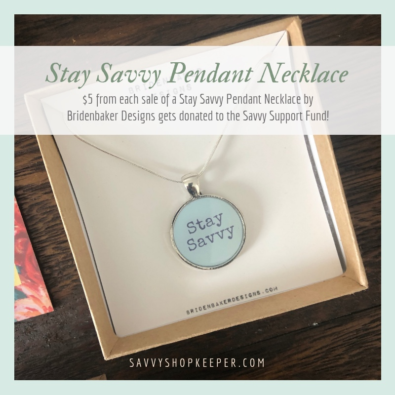 Stay Savvy Pendant Necklaces {Savvy Support Fund Item}