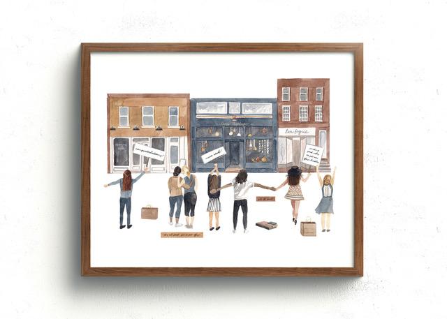 Savvy Shopkeepers Community Art Print