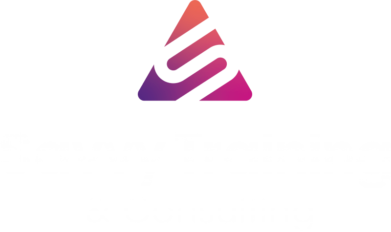 Savvy training & consulting logo white and full color