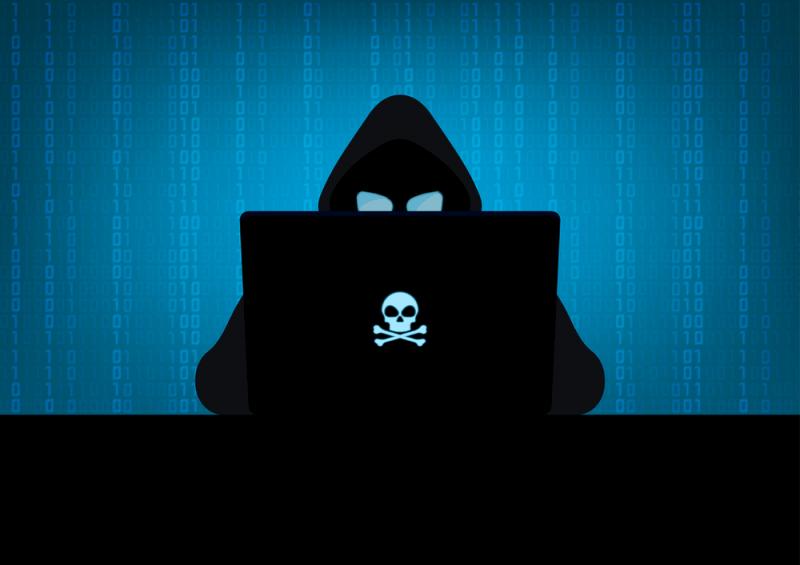 Graphic illustration of hacker