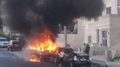 Photo of حريق مركبة في المدينة الرياضية / صور + فيديو