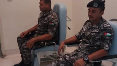 Photo of الدرك يستجيب لمناشدة مواطنة بحاجة للدم في العقبة