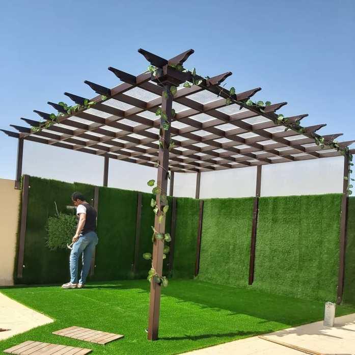 صور مظلات حدائق - تنسيق للحدائق برجولات