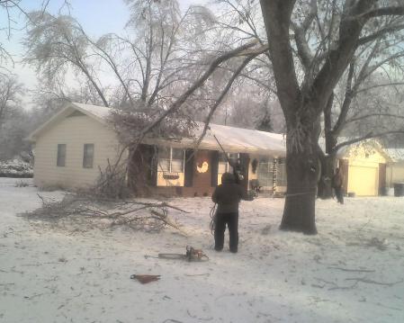 Storm Damage Service Ice Storm