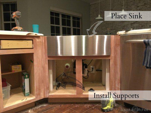 moen apron sink installation sawdust