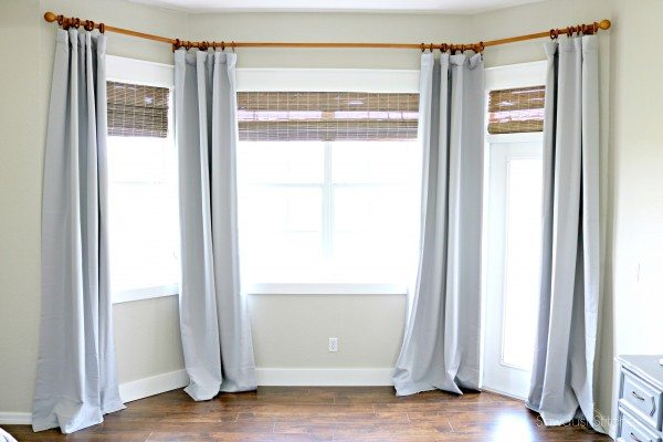 small bay window curtain rod off 64 www daralnahda com