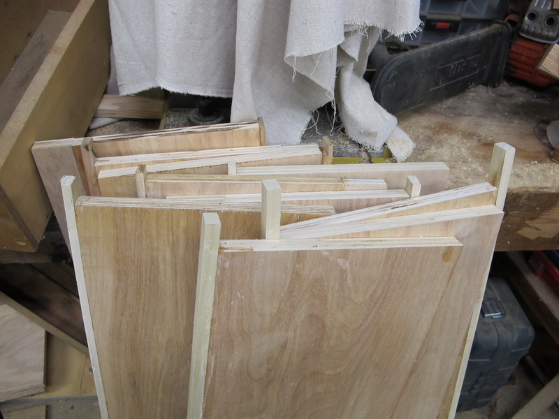All shelves are edged with poplar to give a nice clean edge