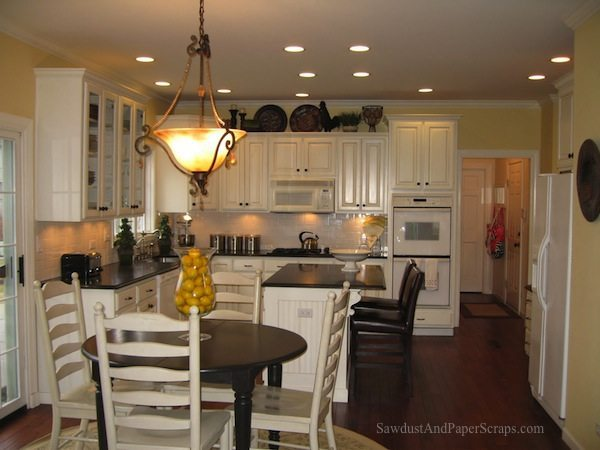 kitchen makeover, painted cabinets
