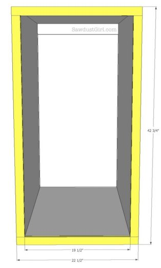 free plans- pullout storage cabinet tutorial