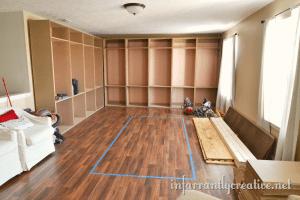 Building studio cabinets
