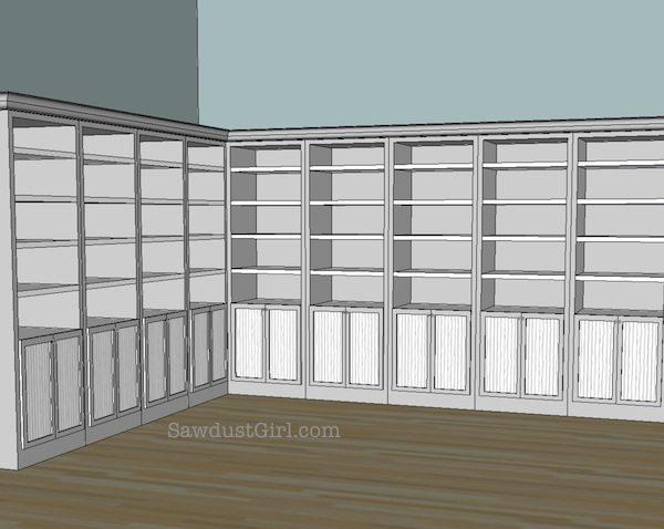 Craft studio cabinet door ideas