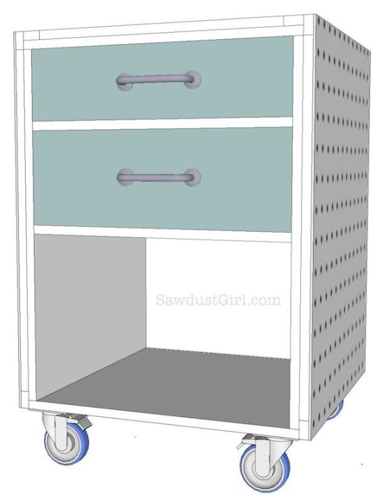 Rolling tool cart - free plans