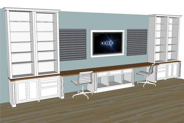 Built-in Office Plans