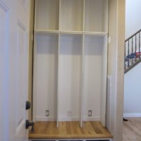 Mudroom locker storage- part 3- progress