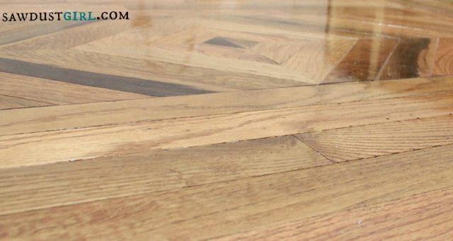 patterned wood floors - SawdustGirl.com