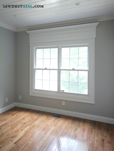 Door And Window Trim Molding With A Decorative Header