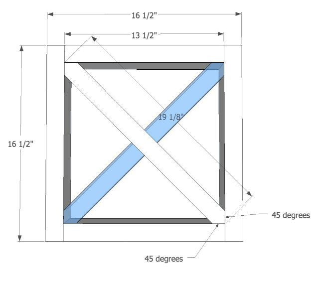 Making an X leg for woodworking bench