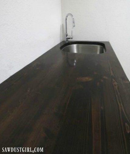DIY wood countertops with undermount sink