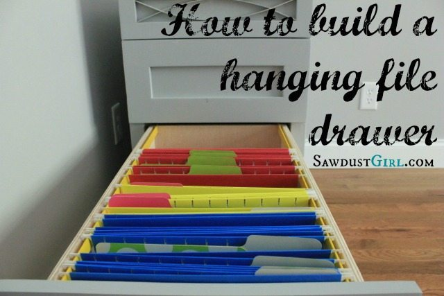 to build a hanging file folder drawer