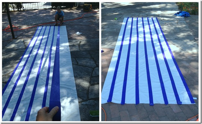 Using fabric spray paint