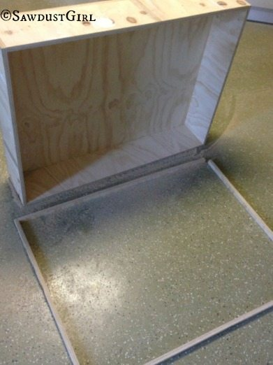 trim a cabinet that is too deep